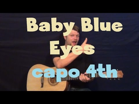 Baby Blue Eyes (a Rocket To The Moon) Easy Strum Guitar Lesson How To Play Tutorial video