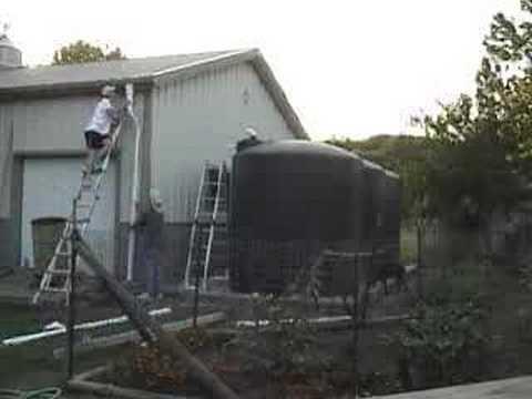 Rainwater Harvesting System Installation Youtube