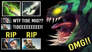 EPIC SH*T MID Tidehunter vs Top 5 Meepo Kunkka New Crazy Shotgun Meta 9k MMR Teamwork 7.22 Dota 2