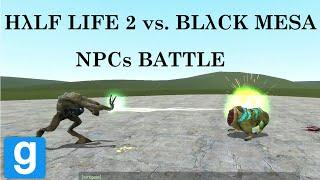 Half-Life 2 vs. Black Mesa SNPC battle in Gmod
