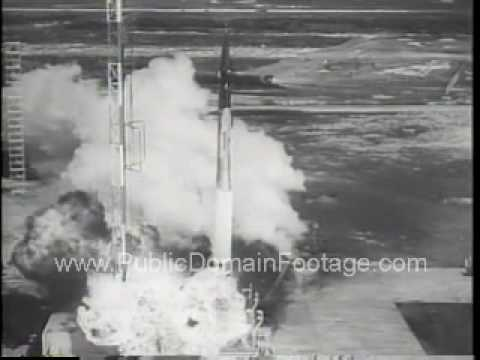 Rocket Crash and Explosion on Liftoff Archival Stock Footage - www.PublicDomainFootage.com
