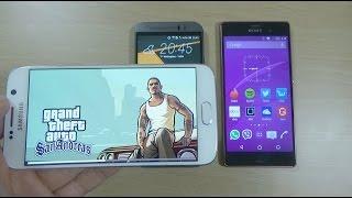 Galaxy S6 VS HTC One M9 VS Xperia Z3 - GTA San Andreas (50fps)
