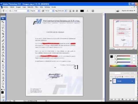 Modificar un certificado de Trabajo - gatocuriosohoy