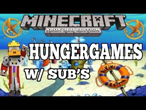 Minecraft (PS3 / XBOX360) Bikini Bottom Hungergames w/ Subscribers