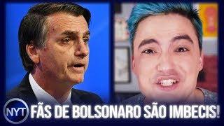 Felipe Neto diz que FÃS do Bolsonaro são IMBECIS e os que mais espalham FAKE NEWS!