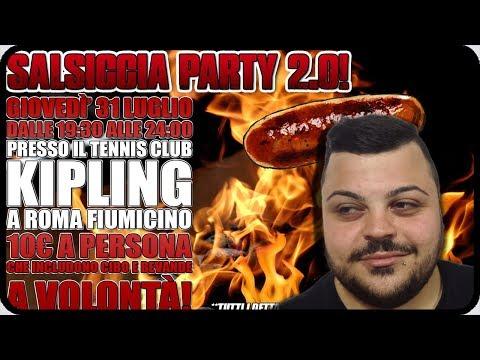SALSICCIA PARTY 2.0 Roma 31 Luglio : Magliette & News Pazzesche !