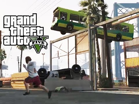 GTA 5 Online Fence Glitch Launches, the Hover Bus and the Epilepsy Truck