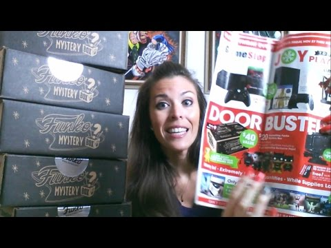 Unboxing Funko Mystery Box at Gamestop BLACK FRIDAY Exclusive POPS !! 2015
