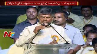 CM Chandrababu Naidu Comments on BJP Govt Over AP Special Status || Dharma Porata Sabha Vizag