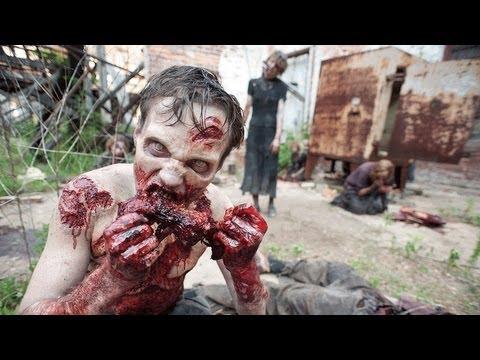Видео как снимали фильм Ходячие мертвецы
