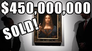 Global Too-Rich Billionaire Controller Pays $450 Million da Vinci's Salvator Mundi Sold 1958 $60