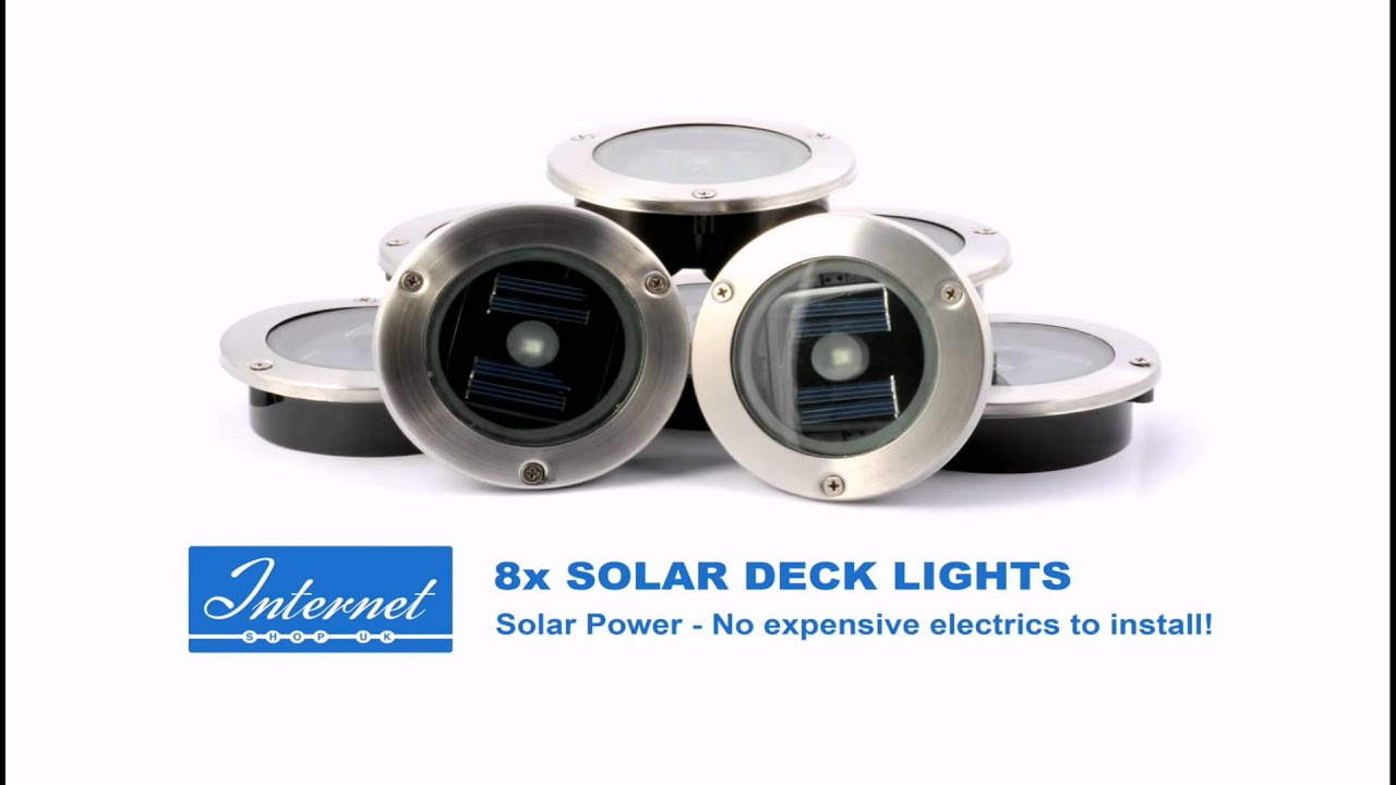 Homelite 8x Solar Decking Lights Available From Internet
