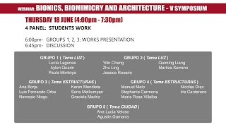 V Symposium Bionics, Biomimicry and Architecture - Panel 4
