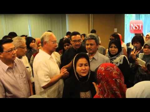 Prime Minister Datuk Seri Najib Razak meeting with families of victims of the MH17 tragedy