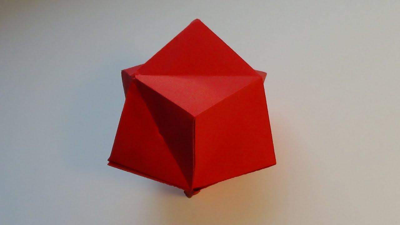 Как сделать объемный тетраэдр