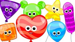 Balloons Song Learn Colors Song Nursery Rhymes Songs For Children Baby Rhymes Bud Bud Buddies