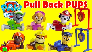 Paw Patrol Pull Back Pups Rescue Rocky With Surprises