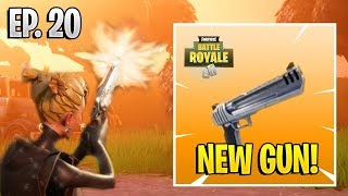 *NEW* HAND CANNON GAMEPLAY! FORTNITE PISTOL! - Fortnite Battle Royale Epic Funny Moments #20