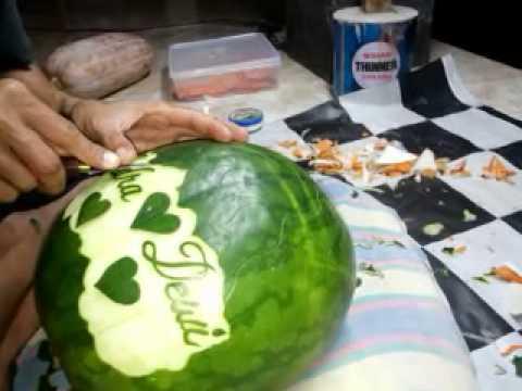 media cara mengukir buah sayuran labu semangka pepaya bengkuang