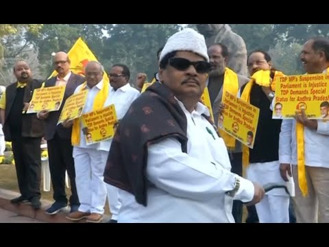 TDP MP Sivaprasad dresses up as MGR to demand 'special category status' for Andhra Pradesh