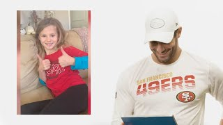 Jimmy Garoppolo Listens to Messages from 49ers Wish Kids | 49ers