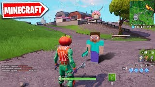 Minecraft is Taking Over Fortnite