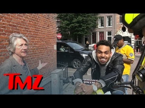 Chris Brown -- Can't Contain Himself as a Local Woman Rats Him Out