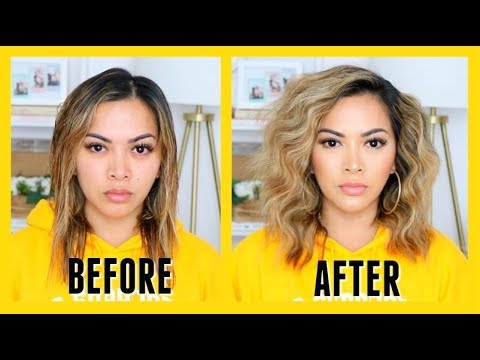 HOW TO GET BIG BEACH WAVES HAIR TUTORIAL! (fast. easy and affordable))