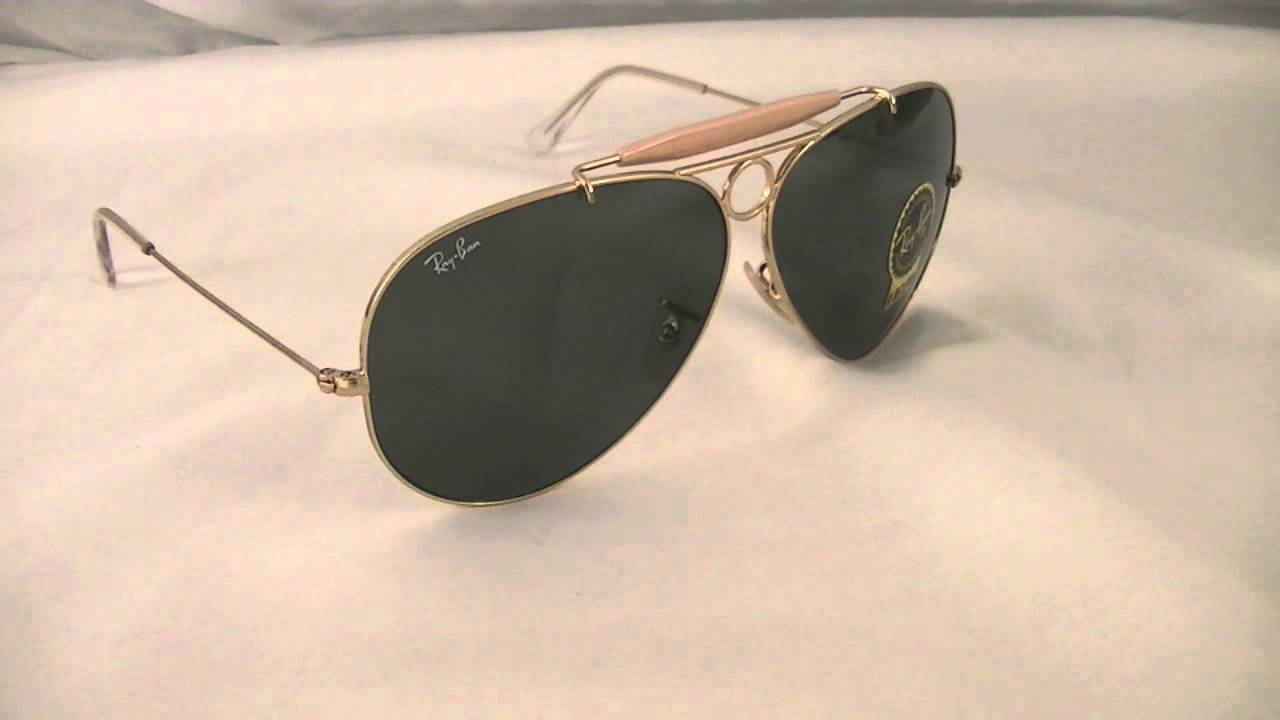 Ray Ban Aviator Shooter Sunglasses RB3138 001