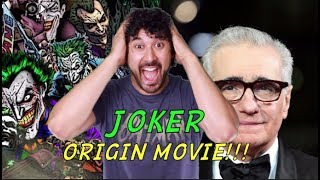 JOKER STAND ALONE ORIGIN MOVIE - Todd Phillips & Martin Scorsese (WHY I'M EXCITED)!!!