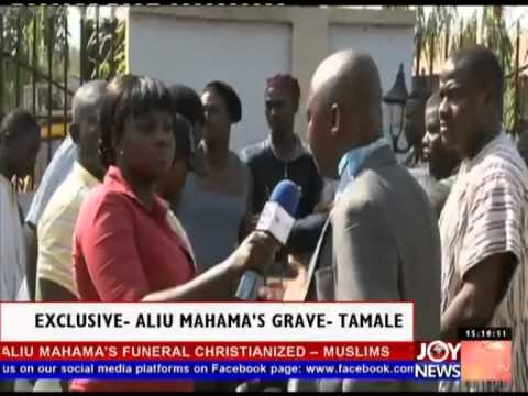 Exclusive Footage of the digging of Aliu Mahama's Grave