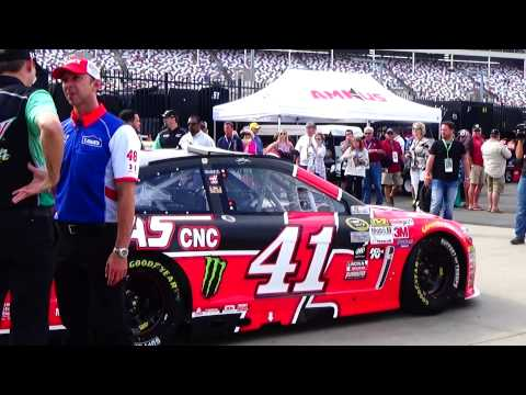 Chad Knaus standing in front of the 41 car prior to the 2015 All Star Race