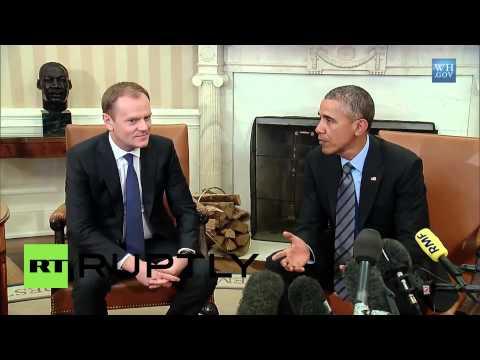 """USA: """"We will continue to pressure Russia over Ukraine""""- Obama"""