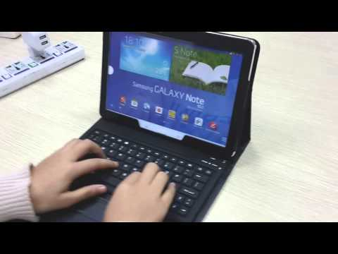 Bluetooth Keyboard Case Review For Samsung Galaxy Note 10.1 2014 Edtion SM P600 P601 P605