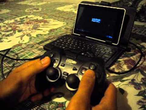 Gamepad usb generico en tablet Titan 7010
