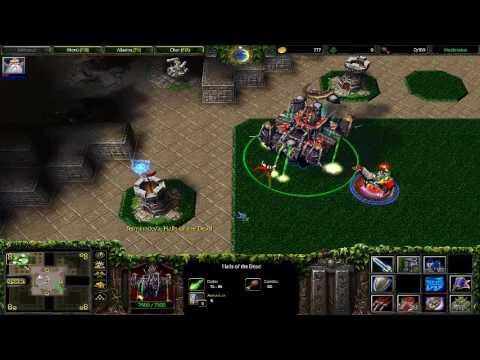 Warcraft III Footman Frenzy - Probando mapas