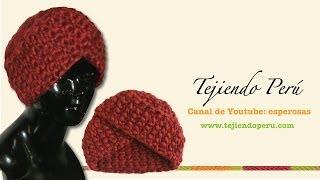 Вязание спицами шапка-тюрбан