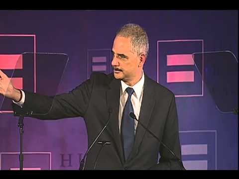 Attorney General Eric Holder Makes Landmark Equality Announcement at HRC New York Gala