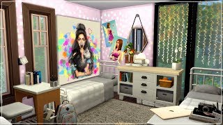 The Sims 4| Room Build | Quadruplets Tumblr Room Build (Speed Build) + CC Links