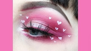 Cute Mini Hearts Valentines Day Makeup Tutorial
