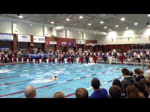 Baylor School's Boys break National Record-200 Medley Relay-TISCA state championships, 2014 - 02/17/2014