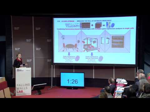 Juliane Lippmann - Breaking the Wall of Antibiotic Resistance @Falling Walls Lab 2014