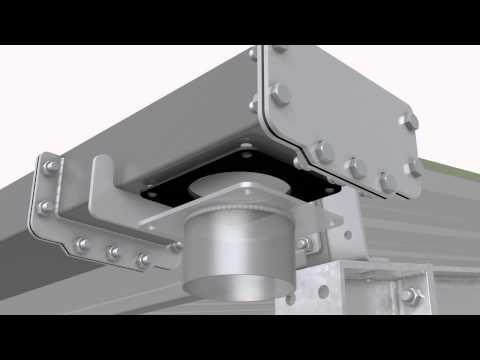 Steel frame | Maison de l'Éleveur | Montage de l'option Chéneau à Boulonner
