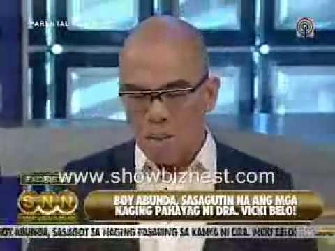 Dr. Vicky Belo insulted Boy Abunda