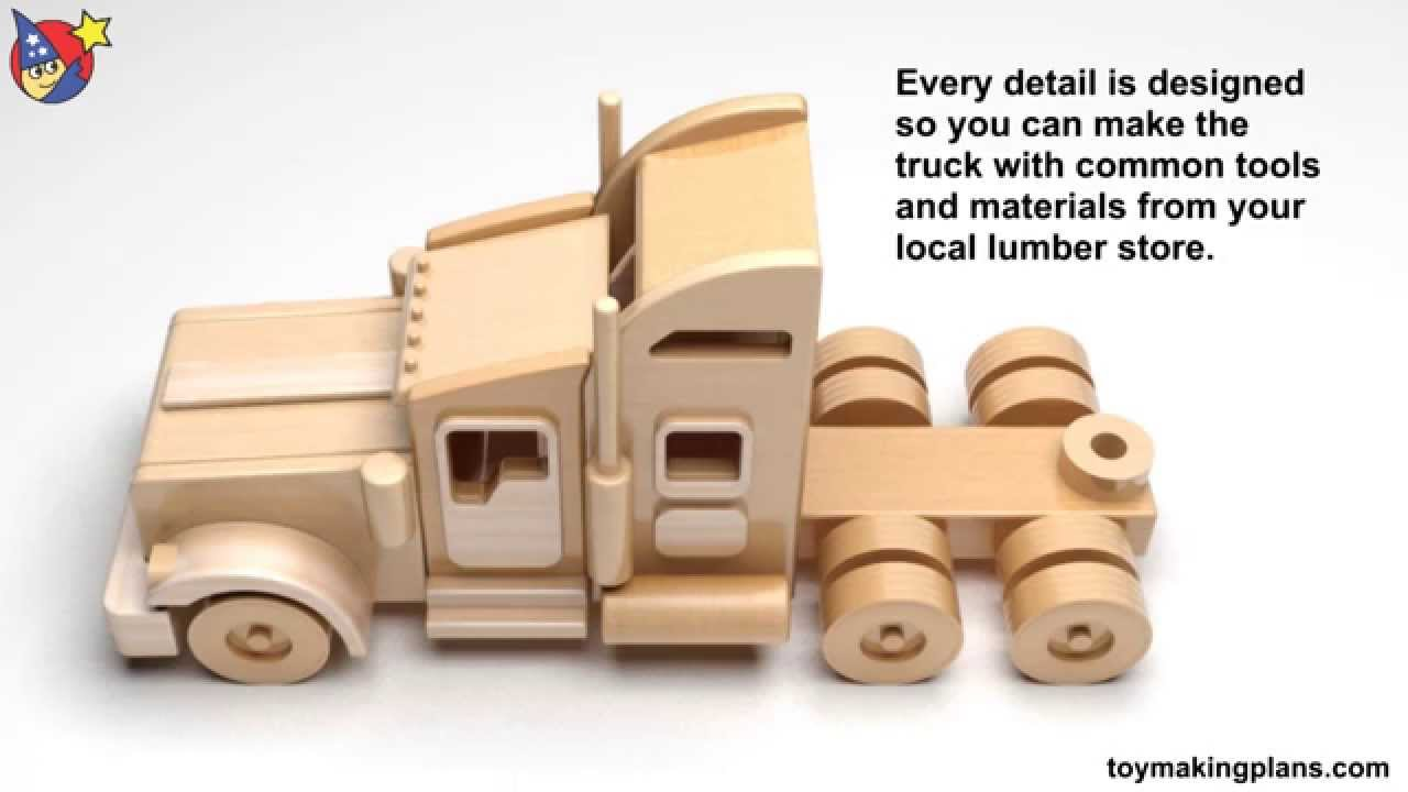 Wood Toy Plans - Famous Kenworth Semi Truck and Trailer ...