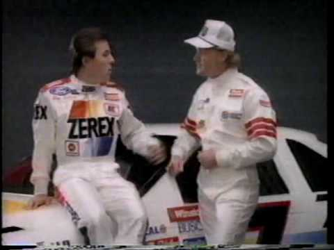 Rusty Wallace & Alan Kulwicki Zerex Commercial, 1989 Video