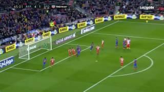 Neymar Amazing Free Kick  Goal - Barcelona vs Sporting Gijon 5-1 - La Liga 01-03-2017 HD