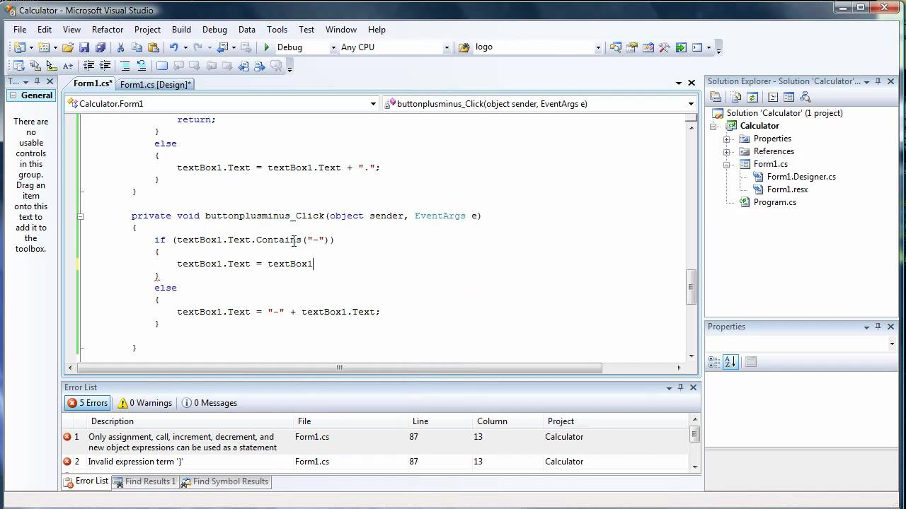 how to create scaling windows form visual studio