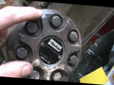 how to disassemble a parker hydraulic wheel motor