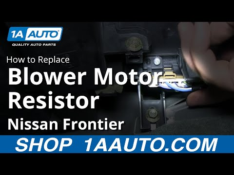 How To Install AC Heater Fan Speed Control Resistor 1998-2004 Nissan Frontier